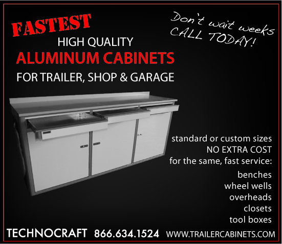 Technocraft Trailer Cabinets Quality Aluminum Cabinets